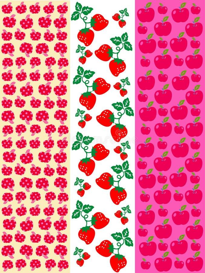 Fruits pattern vector illustration
