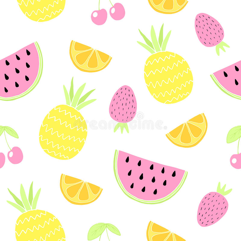 fruits pattern seamless лето предпосылки милое также вектор иллюстрации притяжки corel иллюстрация вектора