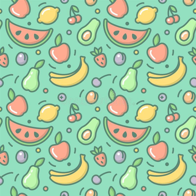fruits pattern seamless 库存例证
