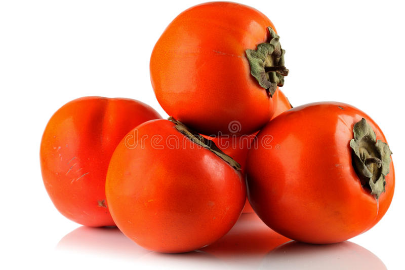 Download The fruits of persimmon. stock photo. Image of white - 21952524