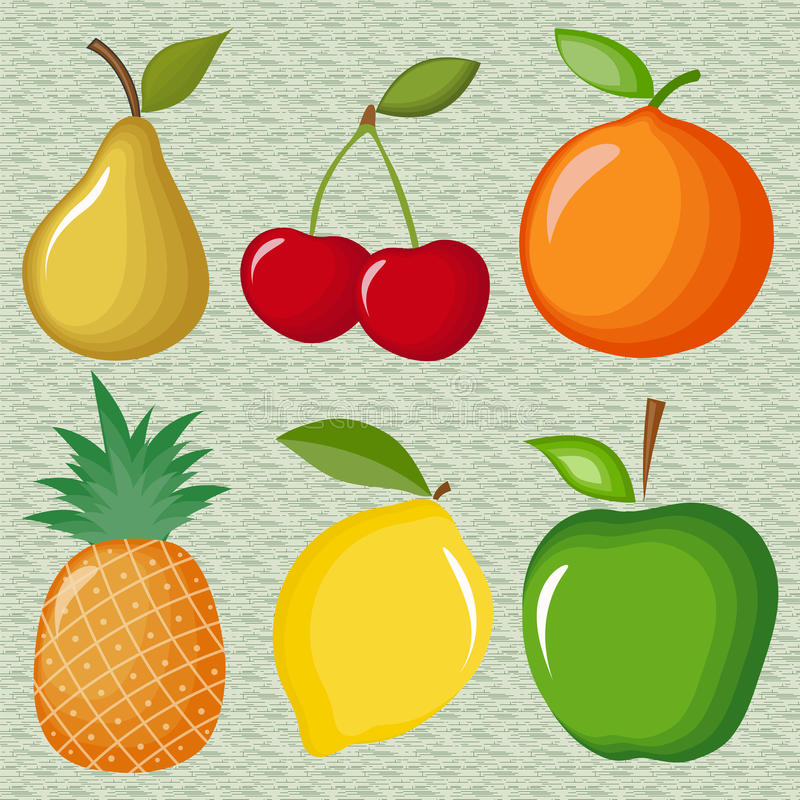 Download Fruits stock vector. Image of cherry, healthy, colored - 43485496