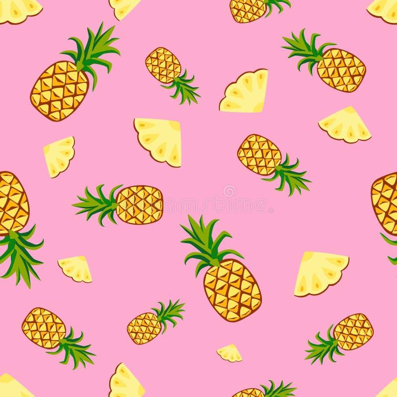 Fruits pineapple seamless patterns vector vector illustration