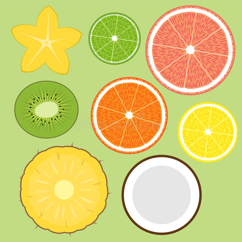 Fruits réglés illustration stock