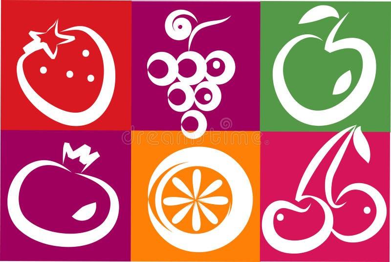 Fruits sains d'été illustration de vecteur