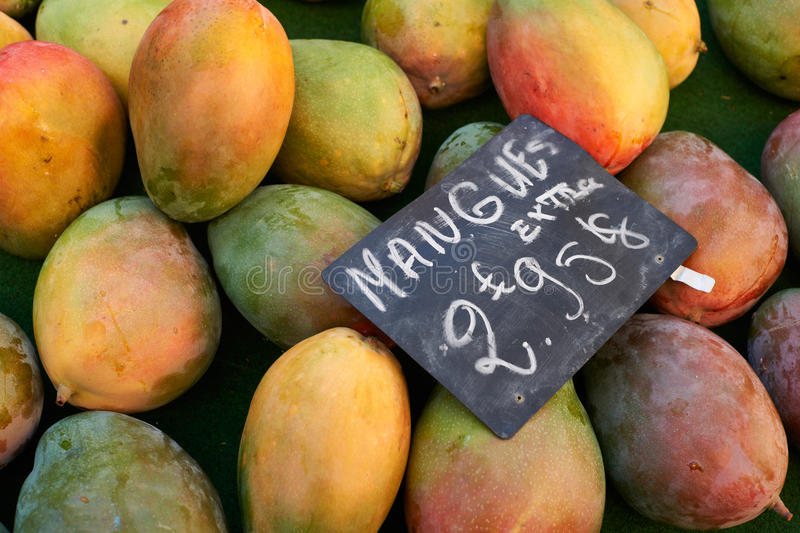 Fruits for sale on market royalty free stock photos