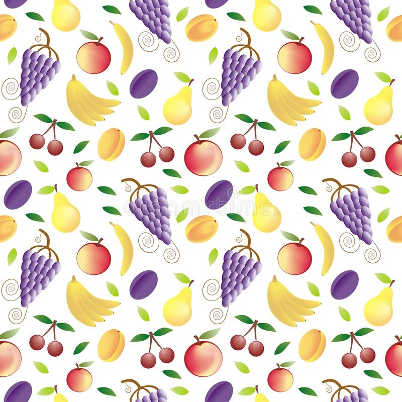 Fruits seamless pattern. Fruits - seamless pattern and abstract nature background stock illustration