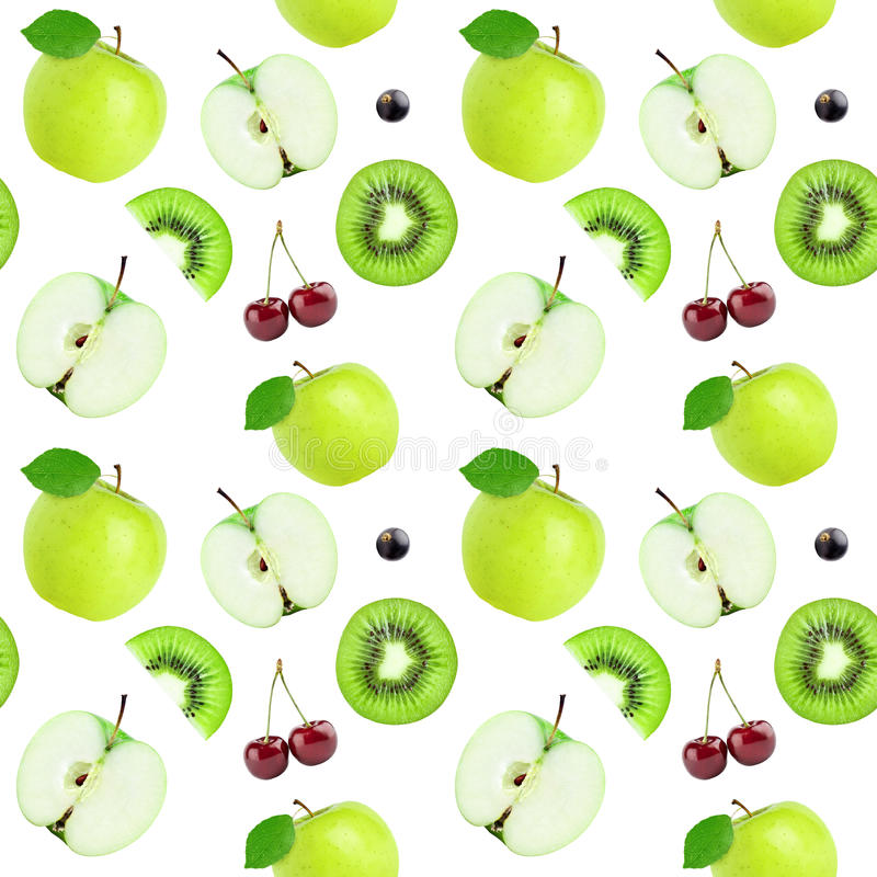Fruits seamless pattern stock photos
