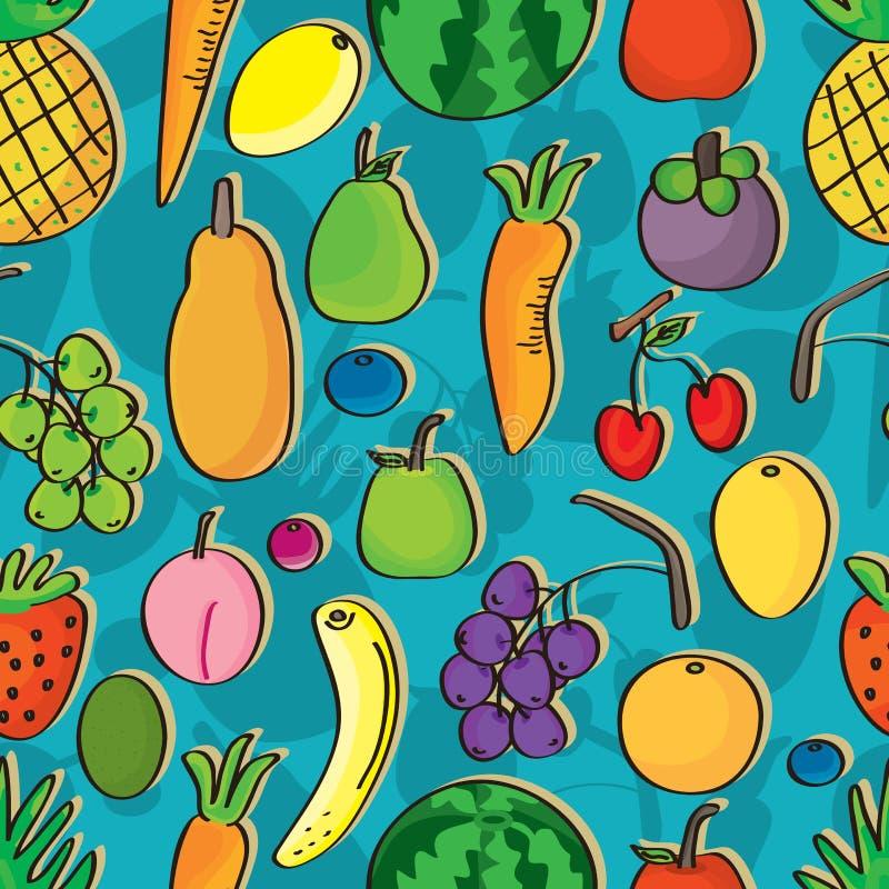 Fruits Seamless Pattern_eps royalty free illustration