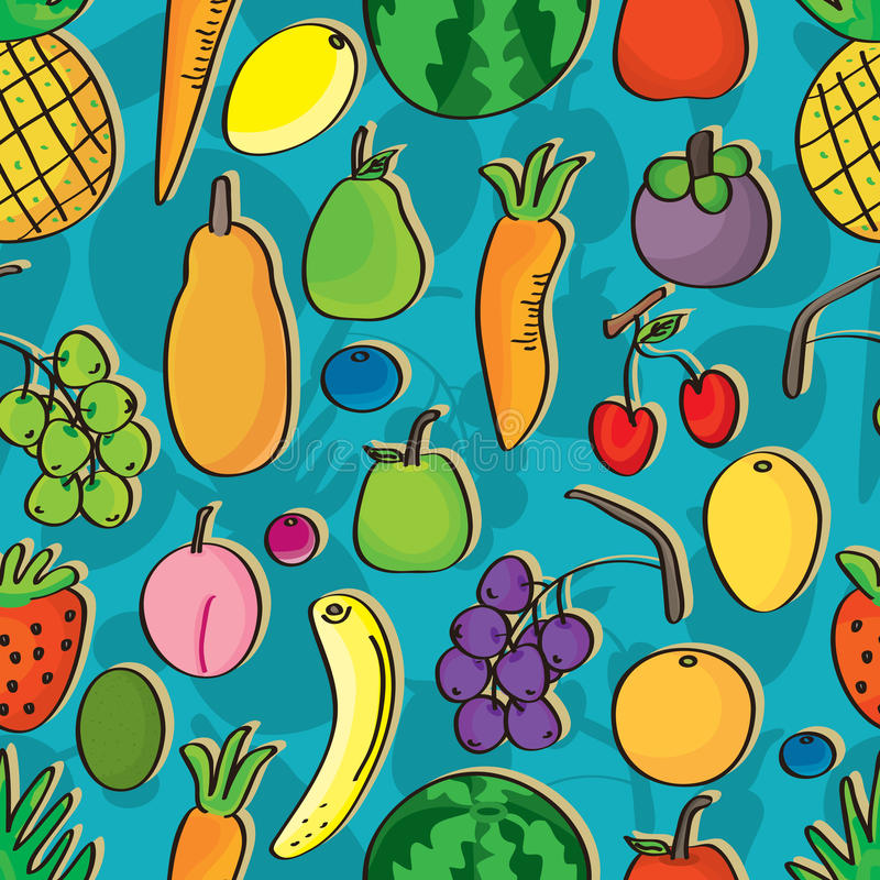 Free Fruits Seamless Pattern_eps Royalty Free Stock Photos - 35923578