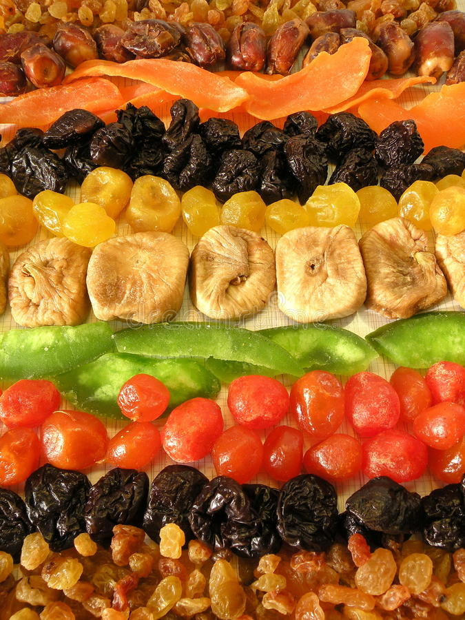 Fruits secs image libre de droits