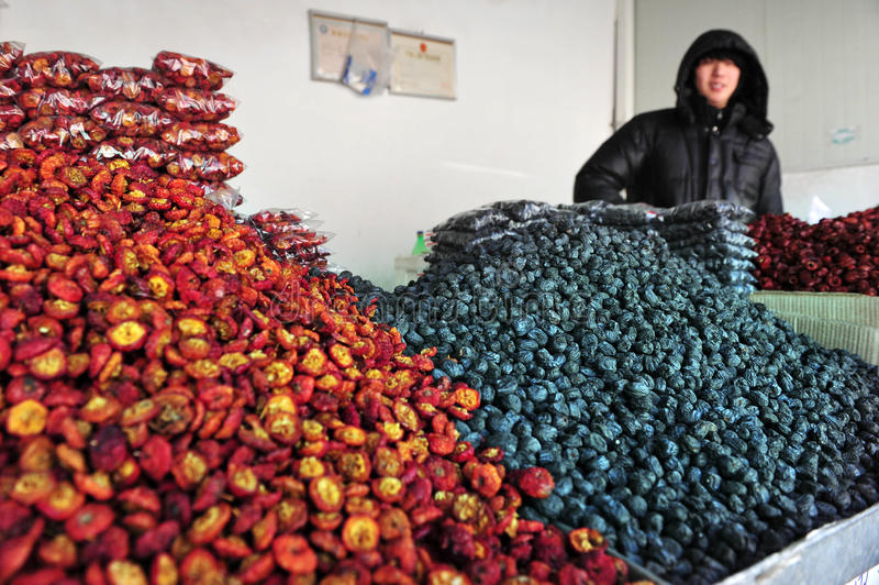Fruits secs en Chine images libres de droits