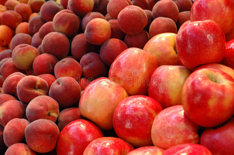 Fruits Series. Fruits - Apple and Nectarine royalty free stock images