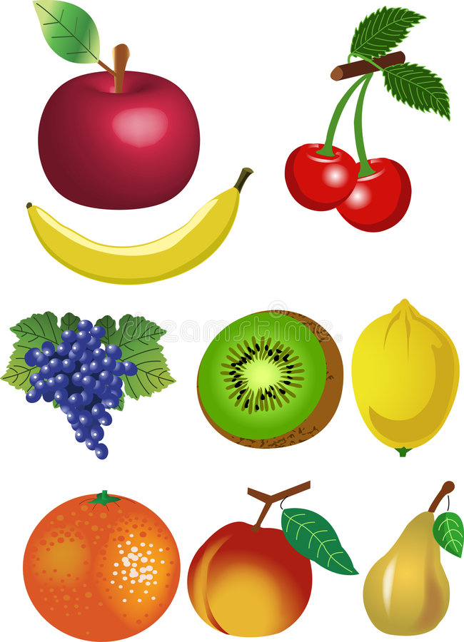 Fruits Set Stock Photos