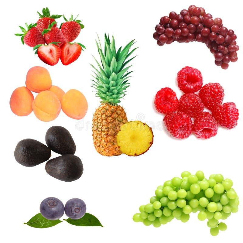 Fruits Set. Set of fruits isolated on white background stock photo