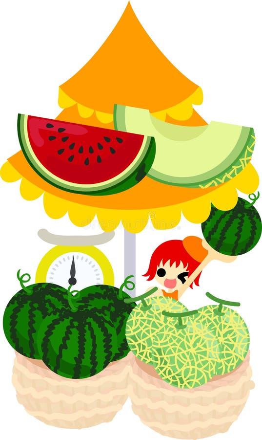 The fruits shop royalty free illustration