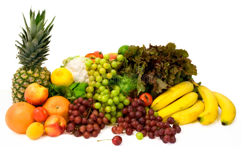 Fruits and Some Vegetables royalty free stock photo