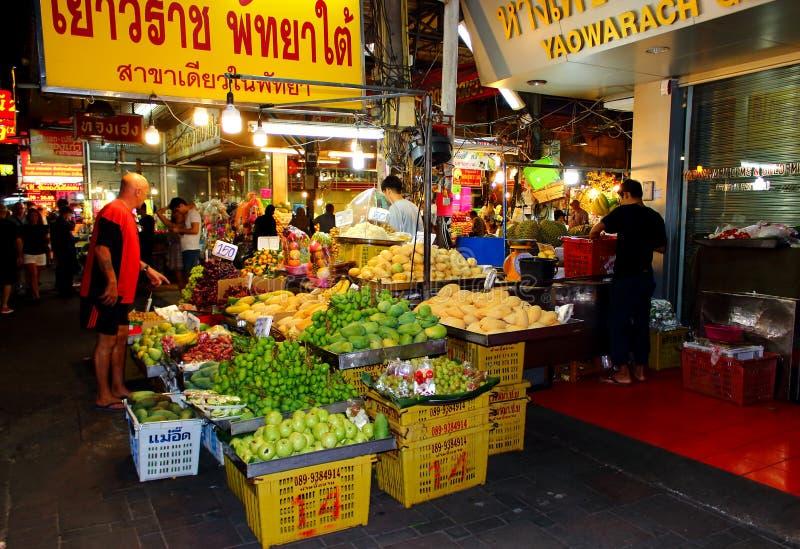 Fruits street shop royalty free stock photo