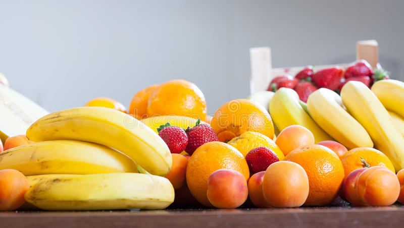 Fruits at table royalty free stock images