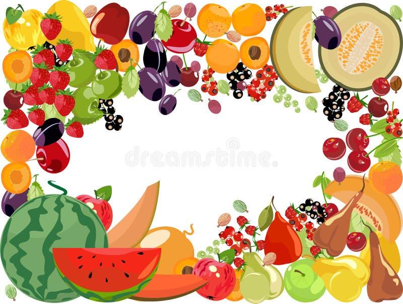 Fruits, vecteur illustration libre de droits