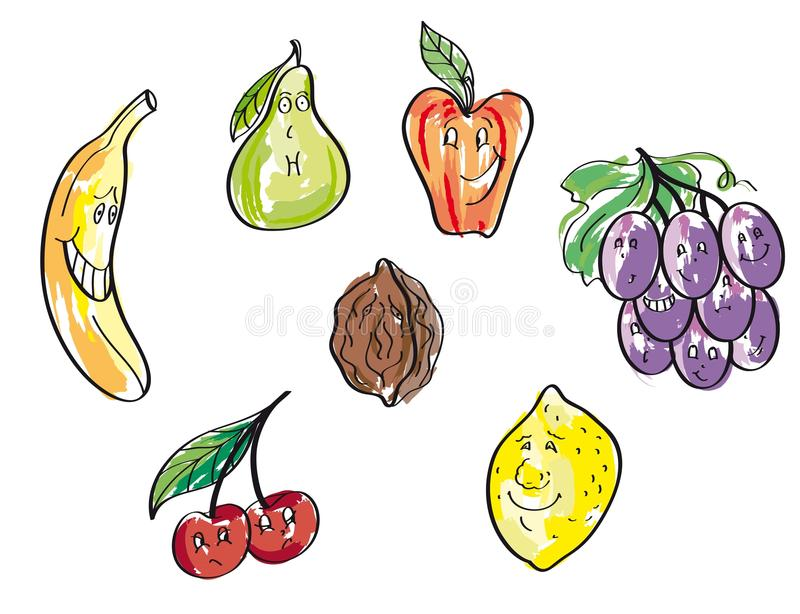 Download Fruits vector hand drawn stock vector. Illustration of natural - 41583302