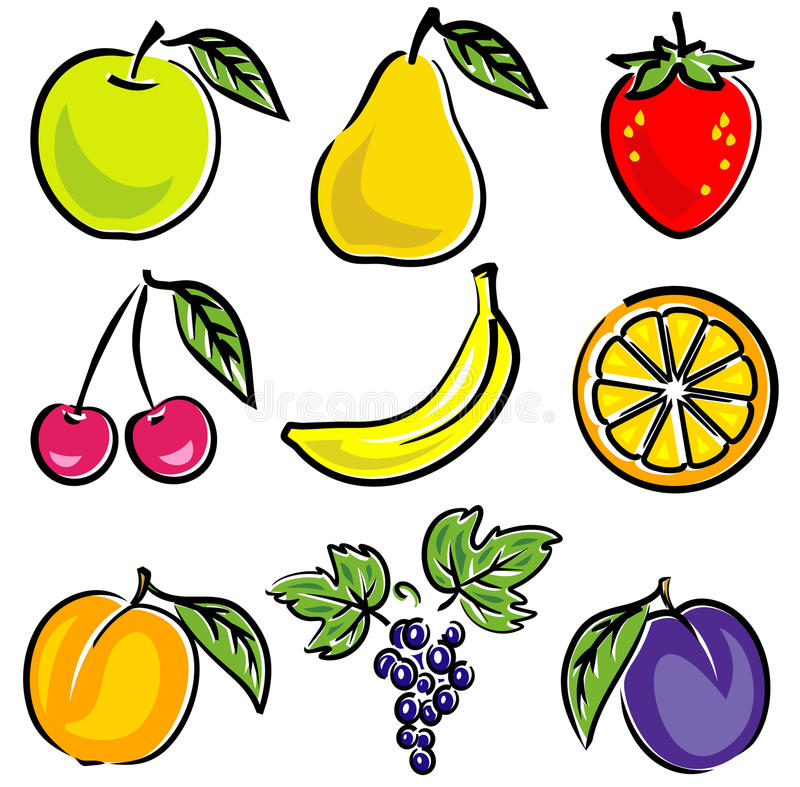 Fruits Vector Illustration royalty free illustration