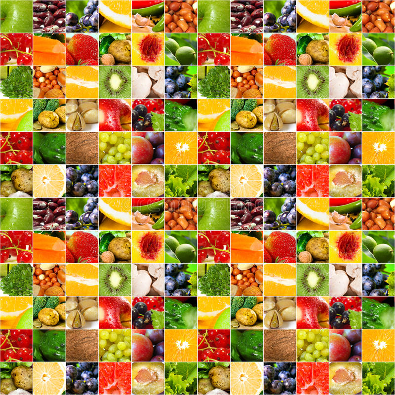 Fruits vegetable big collage royalty free stock images