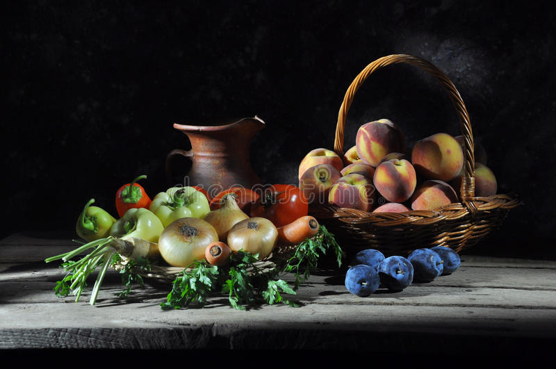 Download Fruits and vegetables stock photo. Image of table, dish - 17713792