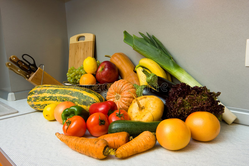 Download Fruits and vegetables stock image. Image of food, house - 7010703