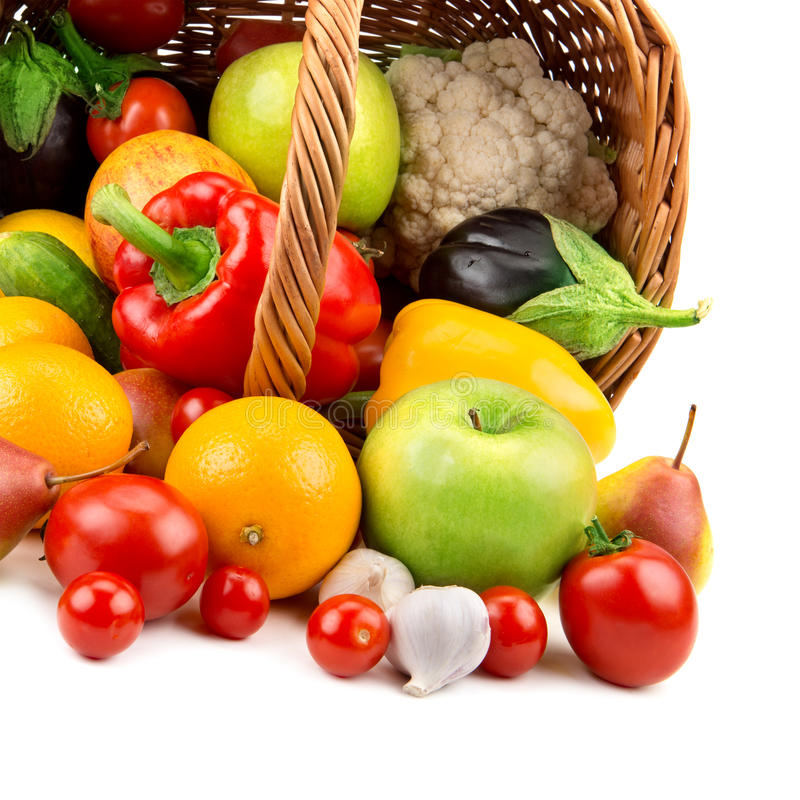 Download Fruits And Vegetables In A Basket Stock Images - Image: 33427744