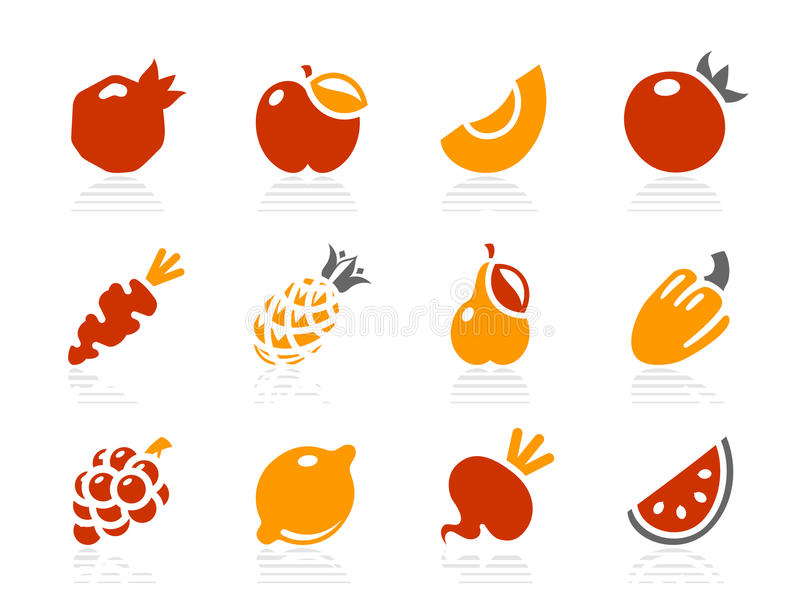 Download Fruits And Vegetables Icons Stock Vector - Image: 11358863