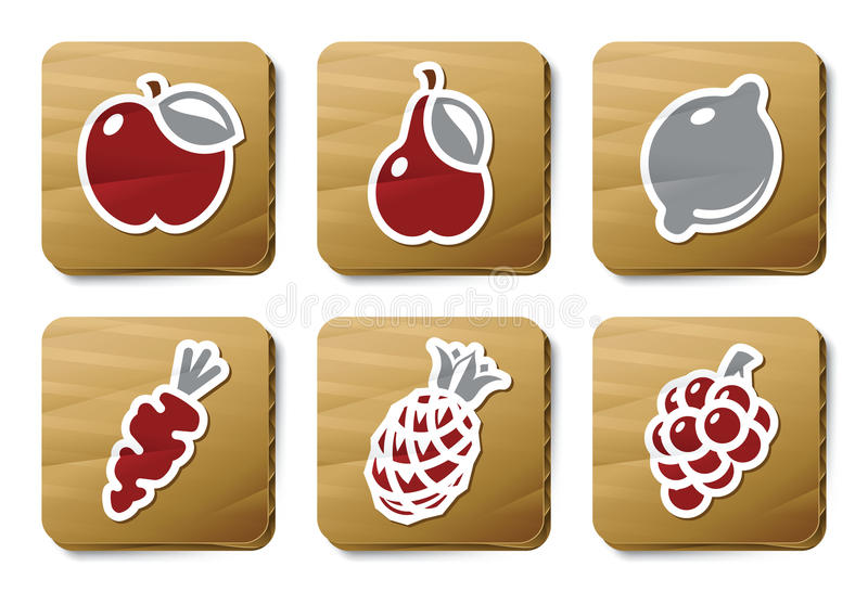 Download Fruits And Vegetables Icons   Cardboard Series Stock Photos - Image: 9462503