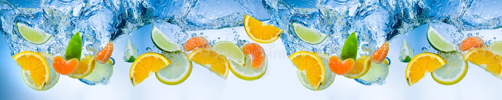 Fruits in the water stock image