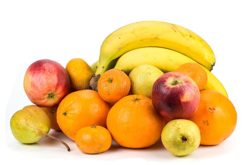 Fruits on a white background.  royalty free stock photo