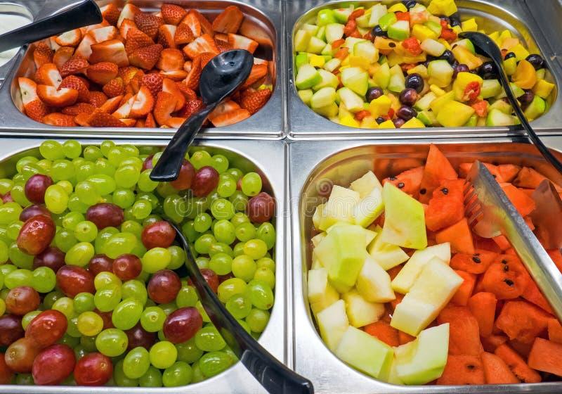 Fruitsalade bij een buffet royalty-vrije stock fotografie