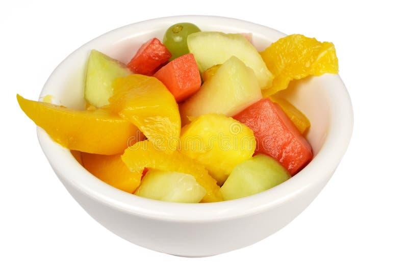 Fruitsalade in een kom. royalty-vrije stock foto's
