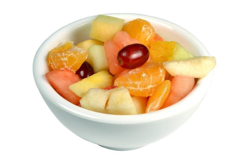 Fruitsalade in een kom. royalty-vrije stock fotografie
