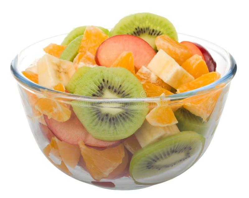 Fruitsalade in glaskom royalty-vrije stock foto