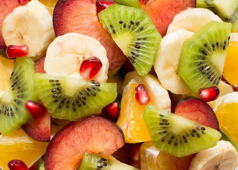 Fruitsaladeachtergrond royalty-vrije stock foto