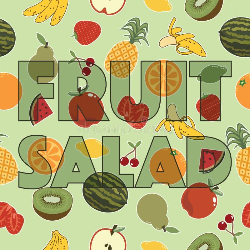 Fruitsaladedecoratie stock fotografie