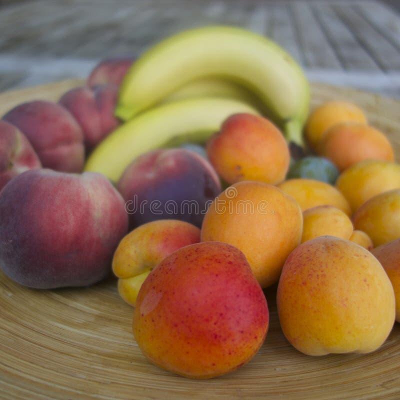 Fruitschotel stock foto's