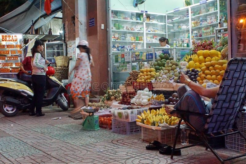 Fruittribune in Nha Trang royalty-vrije stock afbeelding
