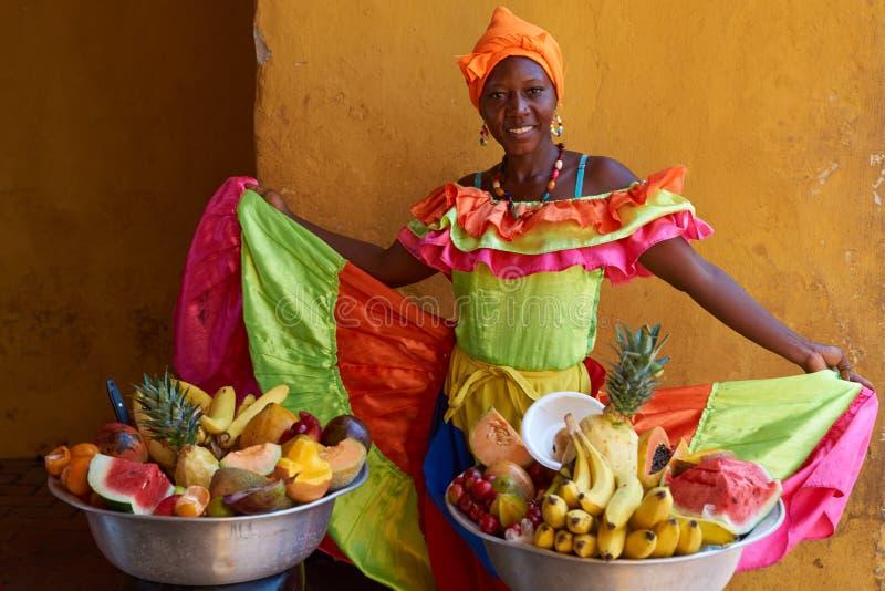 Fruitverkoper royalty-vrije stock foto's