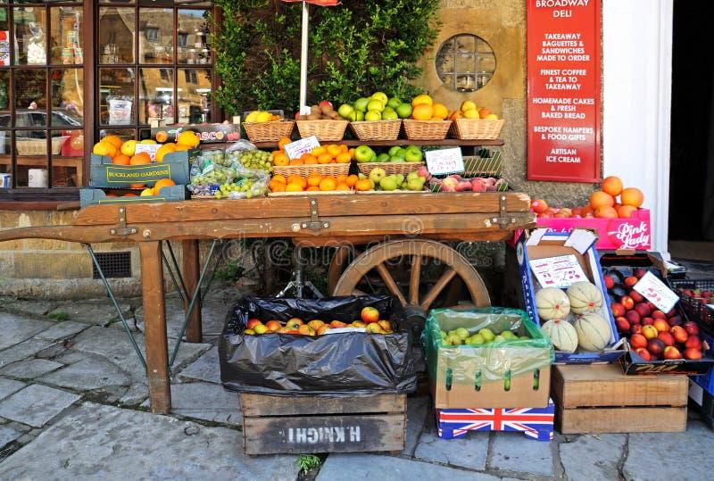 Fruitvertoning, Broadway royalty-vrije stock afbeelding
