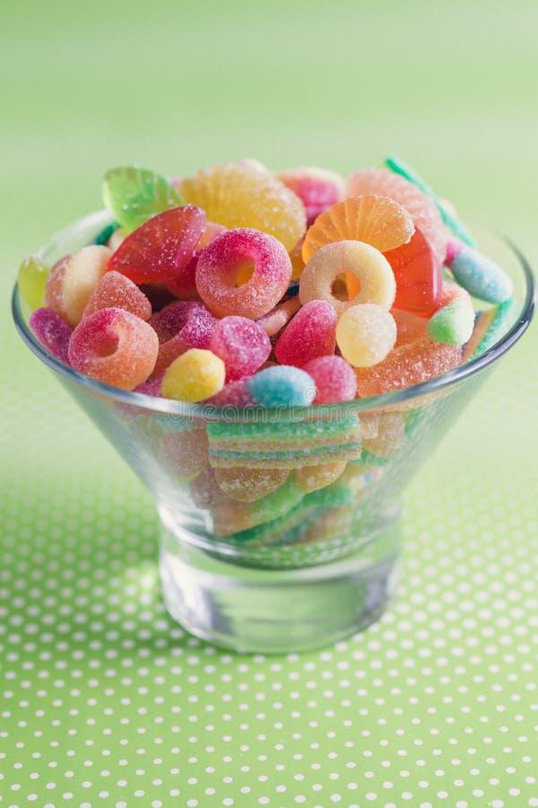 Fruity γλυκά ζελατίνας στοκ εικόνες