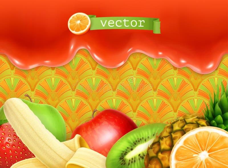 Fruity γλυκό υπόβαθρο απεικόνιση αποθεμάτων