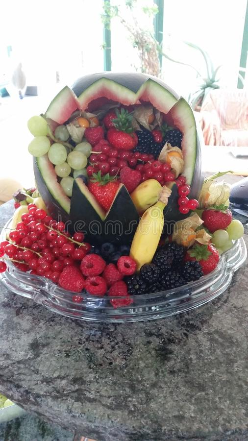 Fruity καρπούζι στοκ εικόνα