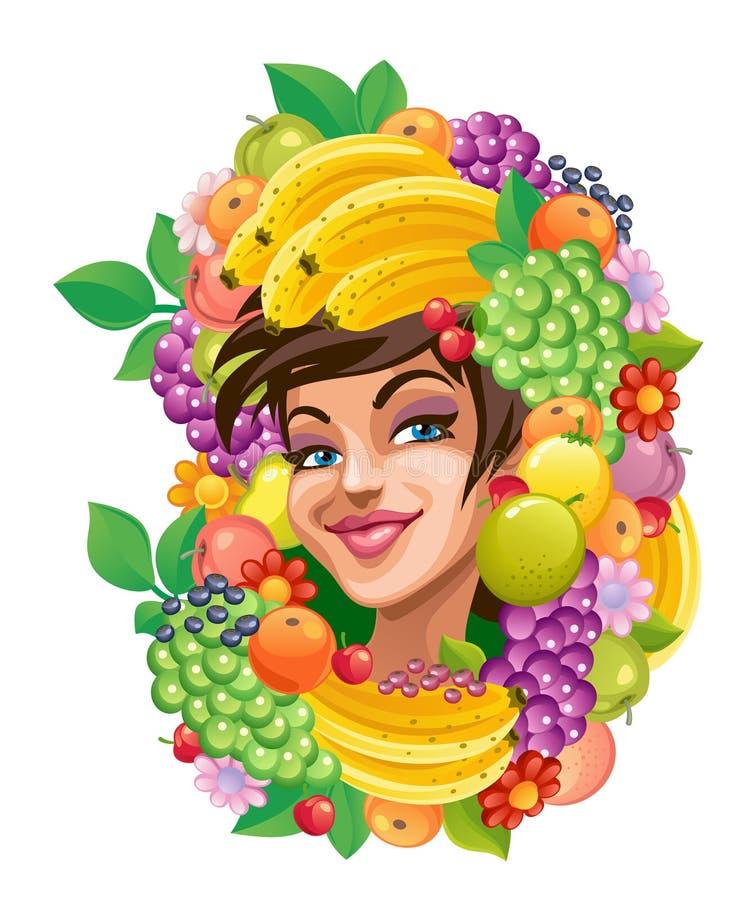 fruity κορίτσι απεικόνιση αποθεμάτων