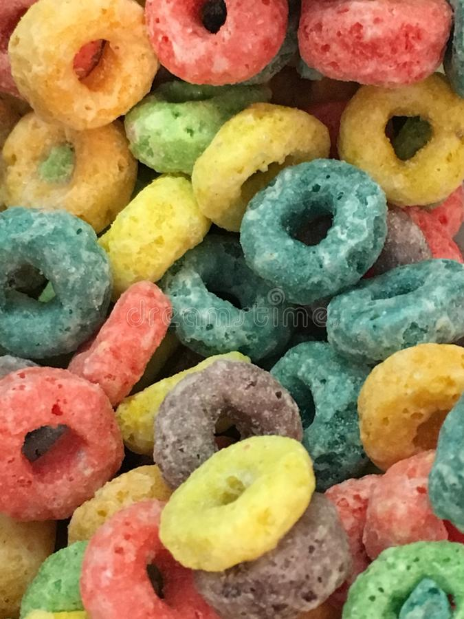 The fruity cereal stock photo