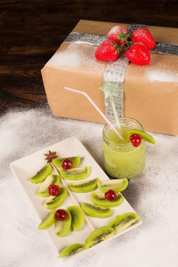 Fruity Christmas tree royalty free stock photo