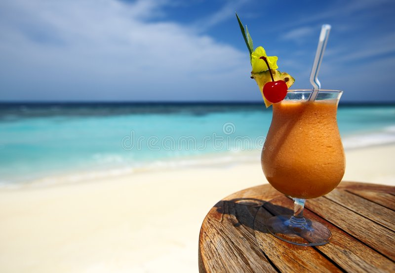 Fruity cocktail royalty free stock images